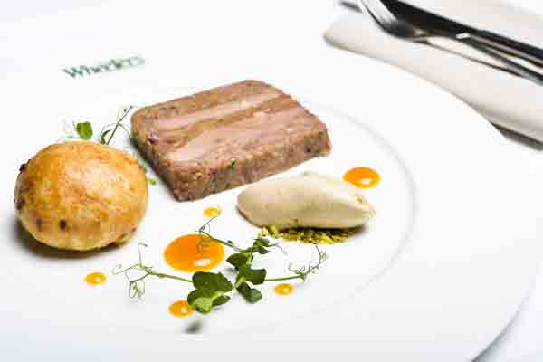 Duck terrine, apricot, parfait & onion brioche (NYE)2